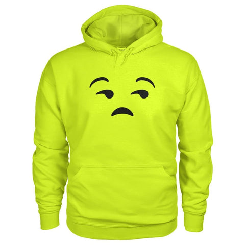 Unamused Face Hoodie - Safety Green / S - Hoodies