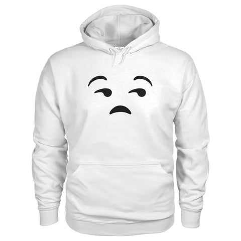 Image of Unamused Face Hoodie - White / S - Hoodies
