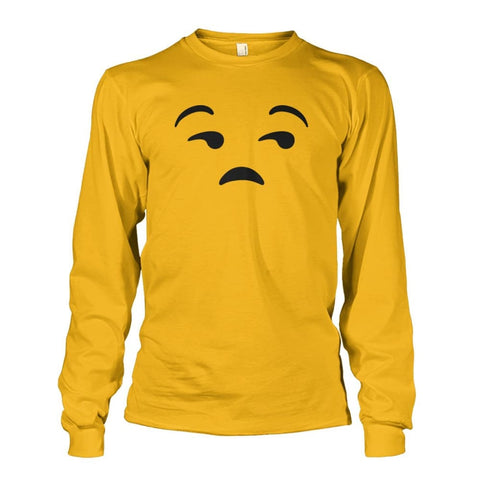 Image of Unamused Face Long Sleeve - Gold / S - Long Sleeves