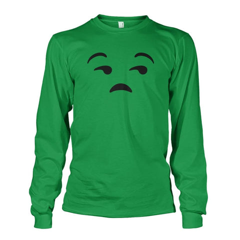 Unamused Face Long Sleeve - Irish Green / S - Long Sleeves