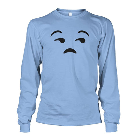 Unamused Face Long Sleeve - Light Blue / S - Long Sleeves