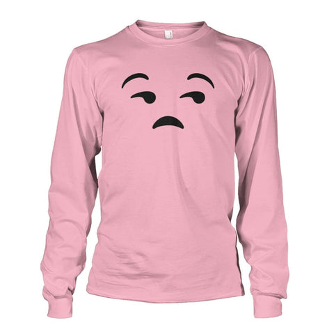 Image of Unamused Face Long Sleeve - Light Pink / S - Long Sleeves