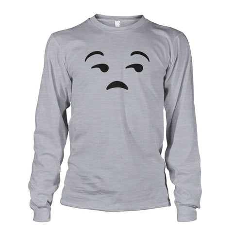 Unamused Face Long Sleeve - Sports Grey / S - Long Sleeves