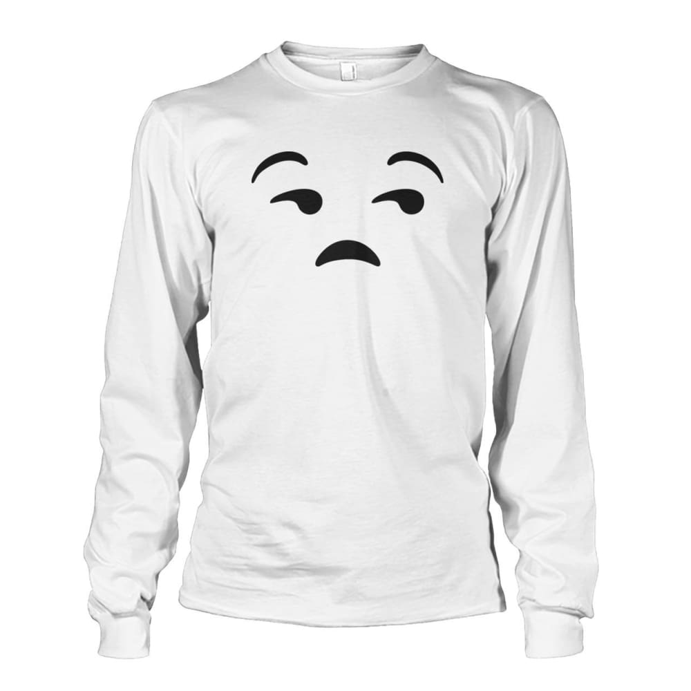 Unamused Face Long Sleeve - White / S - Long Sleeves