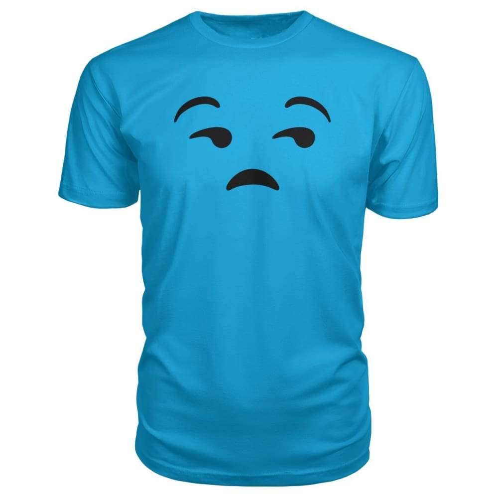 Unamused Face Premium Tee - Carribean Blue / S - Short Sleeves