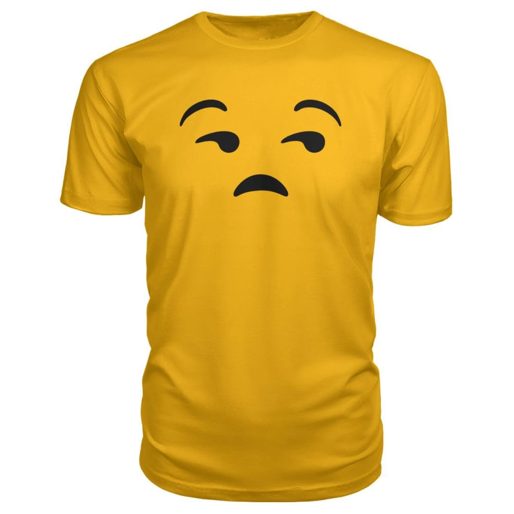 Unamused Face Premium Tee - Gold / S - Short Sleeves