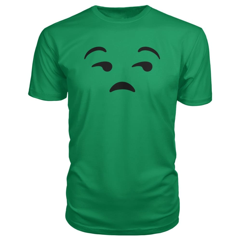 Unamused Face Premium Tee - Green Apple / S - Short Sleeves