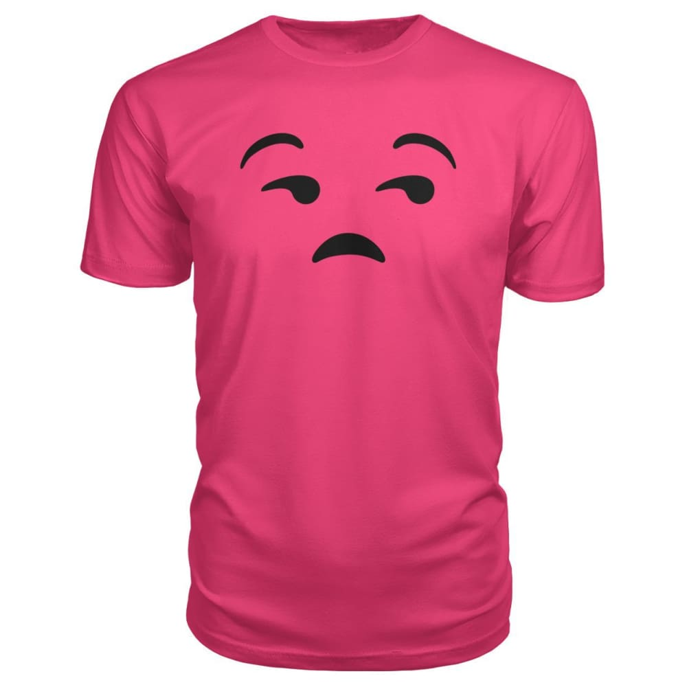 Unamused Face Premium Tee - Hot Pink / S - Short Sleeves