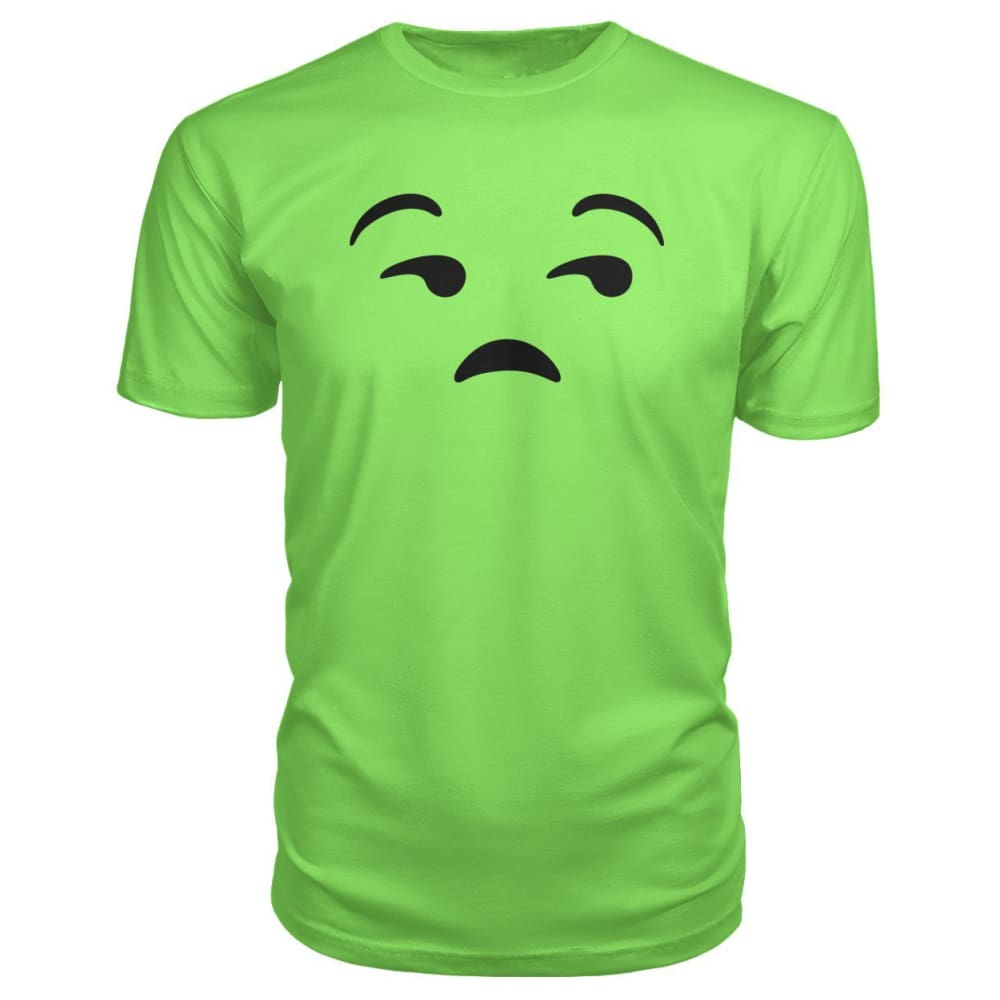Unamused Face Premium Tee - Key Lime / S - Short Sleeves