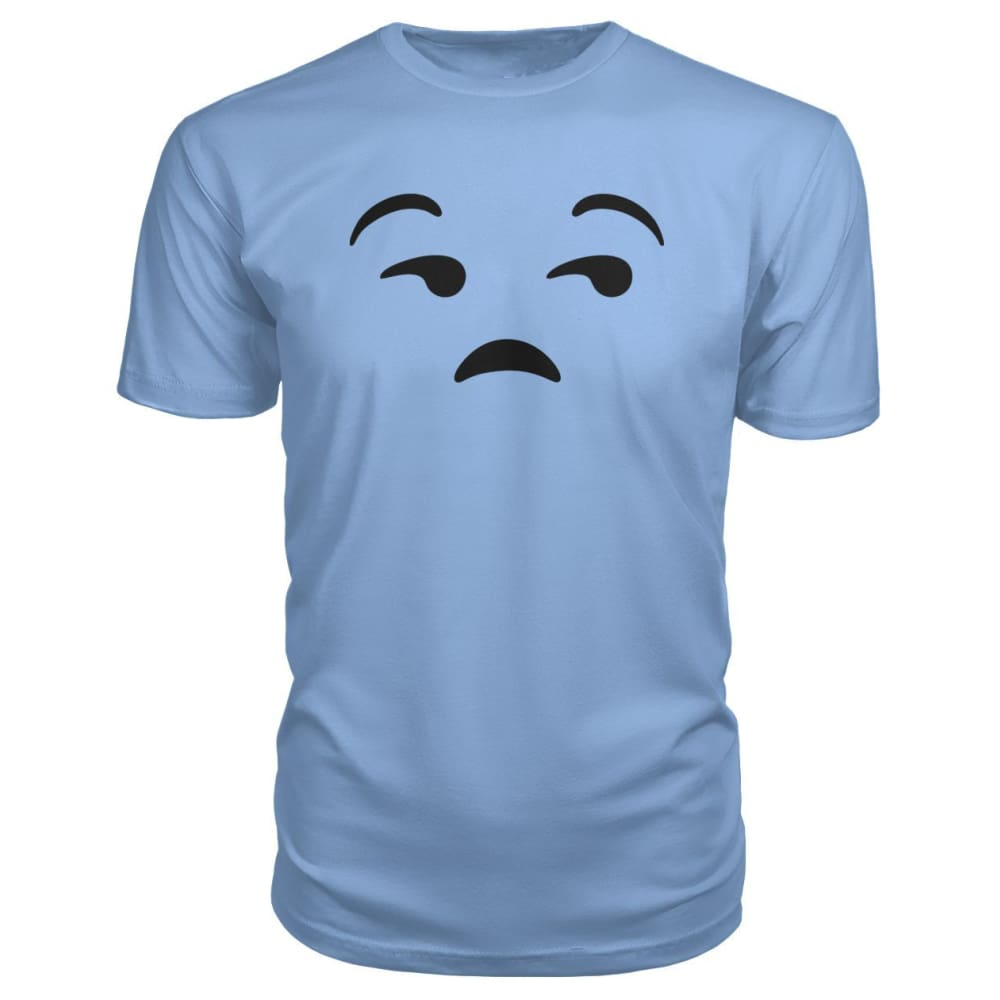 Unamused Face Premium Tee - Light Blue / S - Short Sleeves