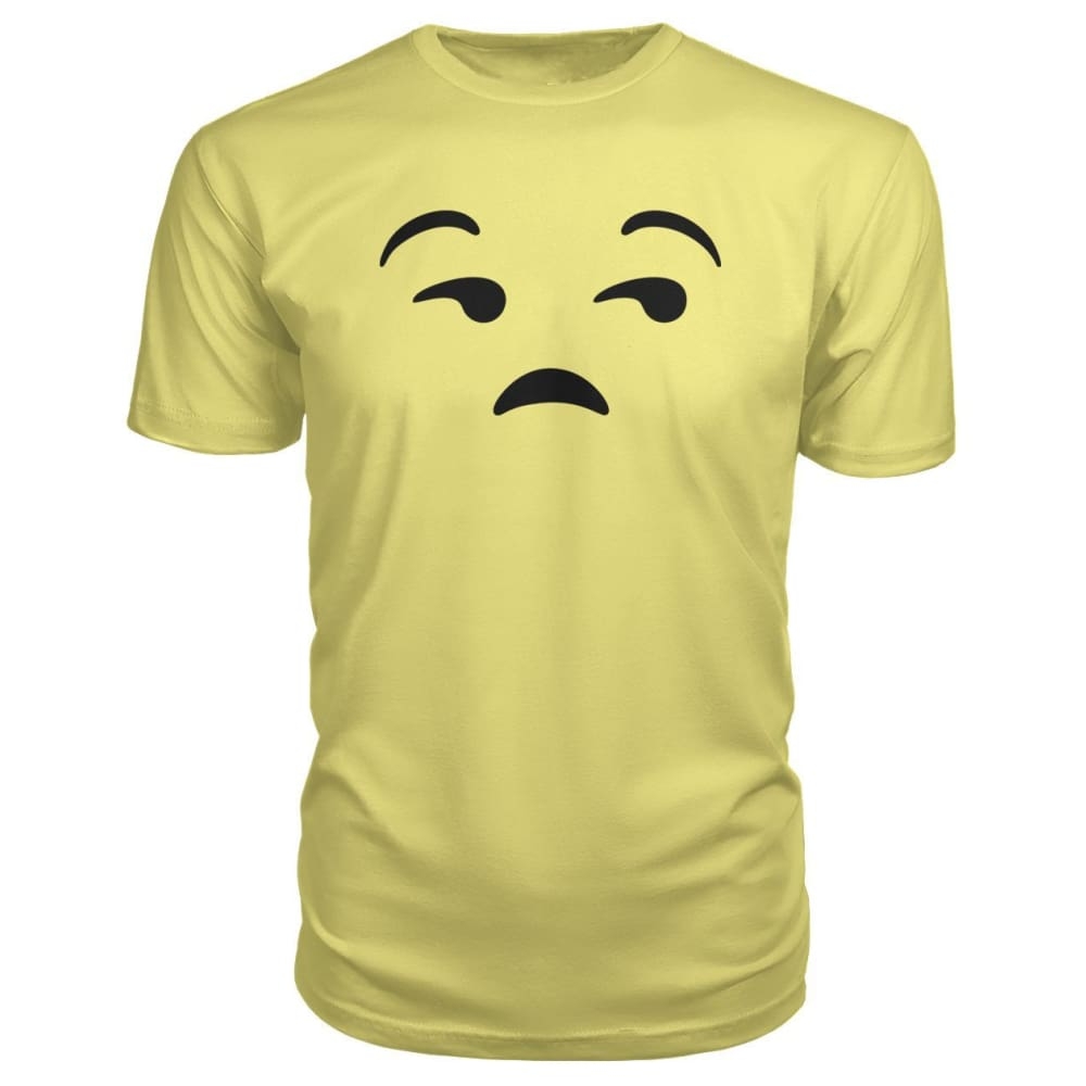 Unamused Face Premium Tee - Spring Yellow / S - Short Sleeves