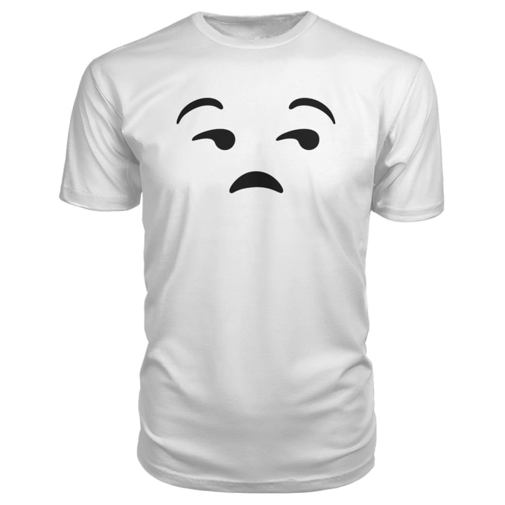 Unamused Face Premium Tee - White / S - Short Sleeves