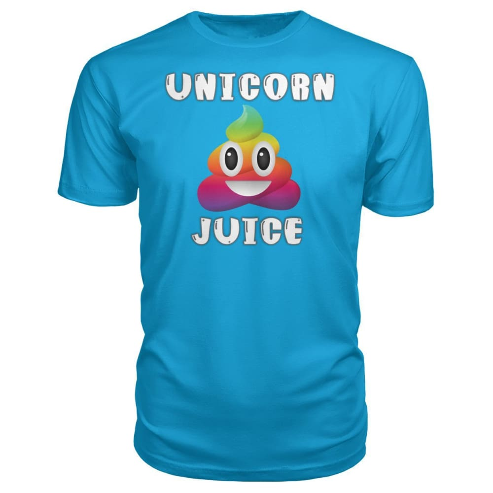 Unicorn Poop Juice Emoji - Premium Tee - Carribean Blue / S - Short Sleeves