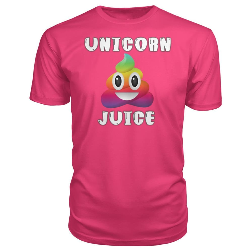 Unicorn Poop Juice Emoji - Premium Tee - Hot Pink / S - Short Sleeves