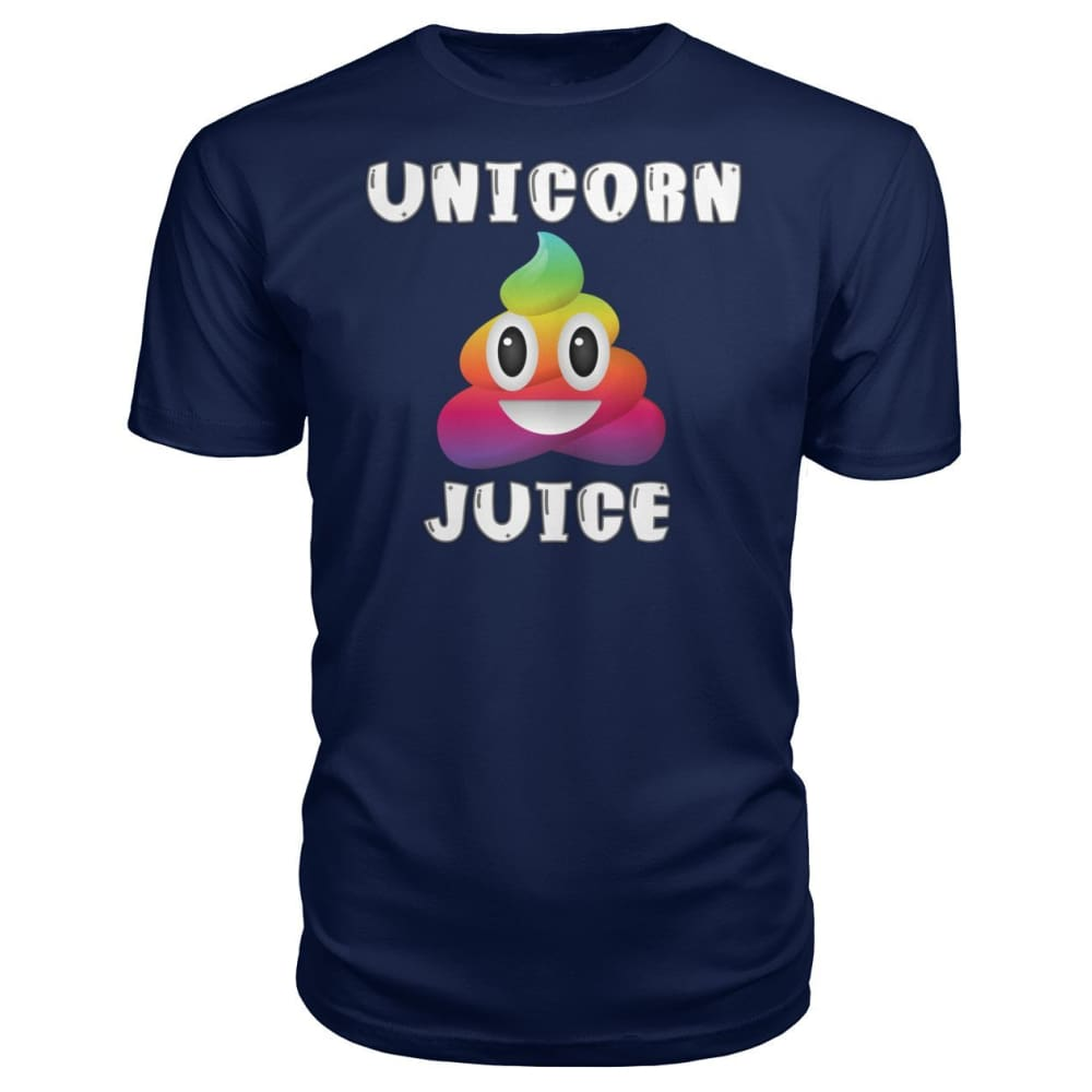 Unicorn Poop Juice Emoji - Premium Tee - Navy / S - Short Sleeves