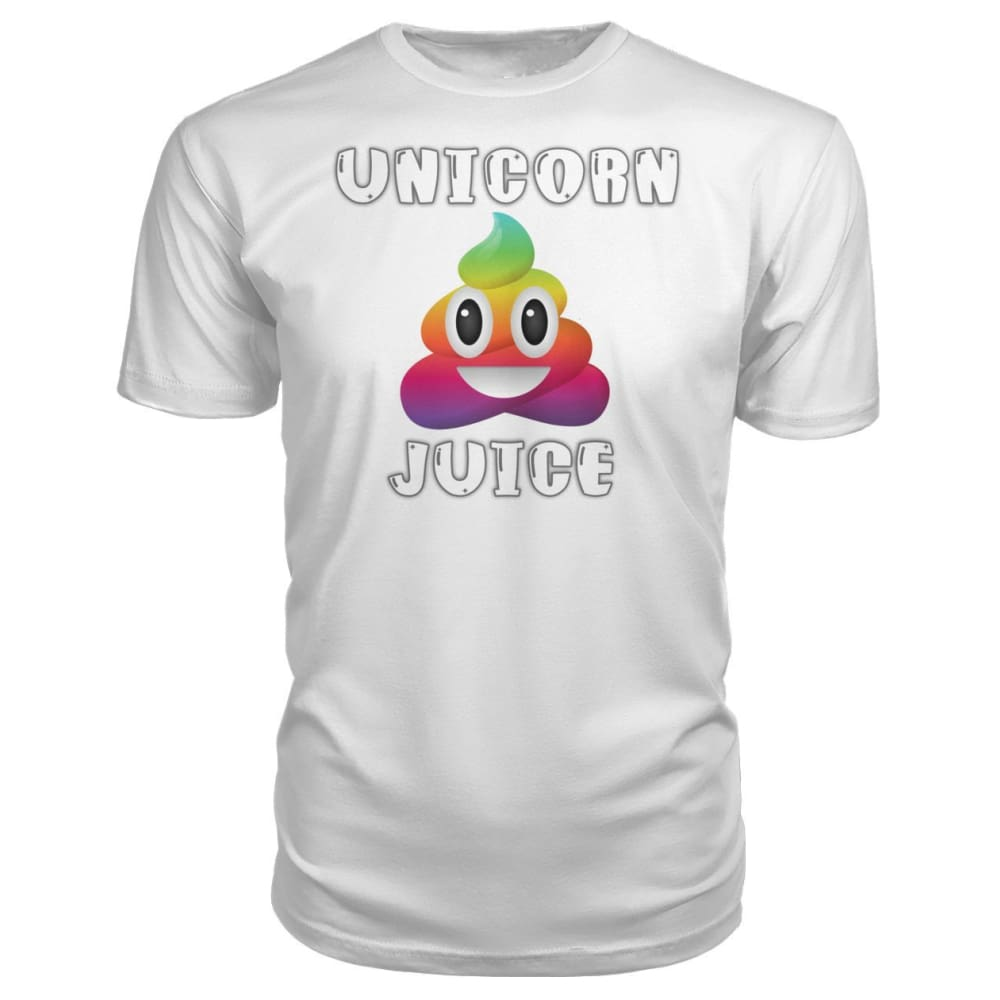 Unicorn Poop Juice Emoji - Premium Tee - White / S - Short Sleeves