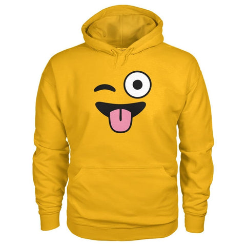 Winkey Face With Tongue Hoodie - Gold / S - Hoodies