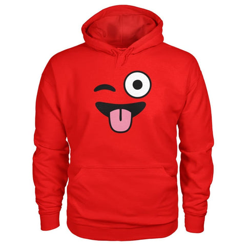 Image of Winkey Face With Tongue Hoodie - Red / S - Hoodies