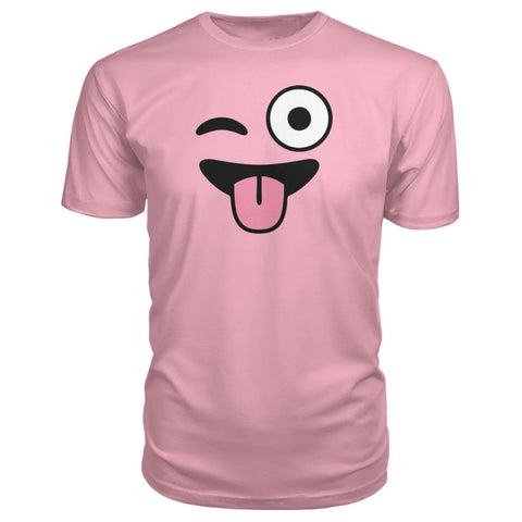 Image of Winkey Face With Tongue Premium Tee - Charity Pink / S / Premium Unisex Tee - Short Sleeves