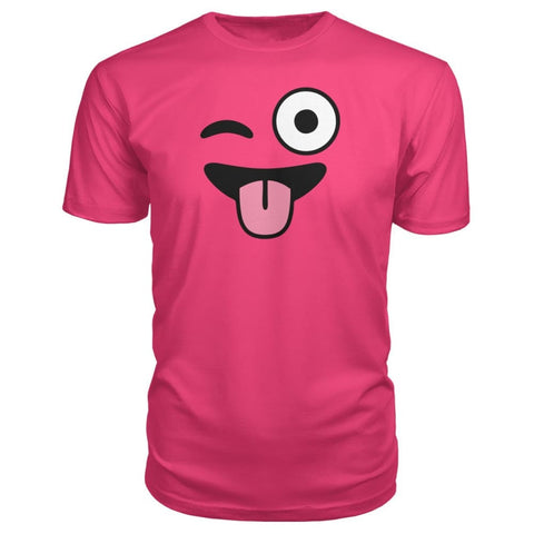 Image of Winkey Face With Tongue Premium Tee - Hot Pink / S / Premium Unisex Tee - Short Sleeves