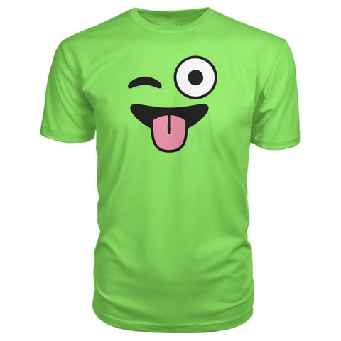 Winkey Face With Tongue Premium Tee - Key Lime / S / Premium Unisex Tee - Short Sleeves