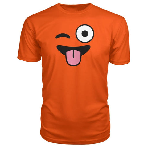 Image of Winkey Face With Tongue Premium Tee - Orange / S / Premium Unisex Tee - Short Sleeves