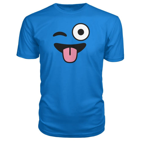 Image of Winkey Face With Tongue Premium Tee - Royal Blue / S / Premium Unisex Tee - Short Sleeves