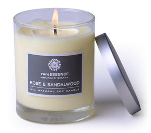 Rose & Sandalwood GMO-free soy wax candle