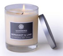 Load image into Gallery viewer, Bergamot & Lime GMO Free Soy Wax Candle