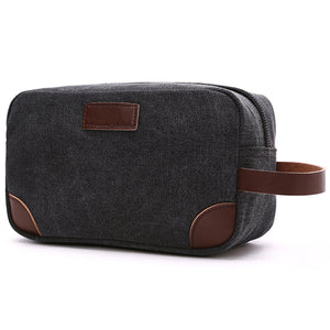 Canvas and Leather Dopp Kit - Gifts for Male Cancer Patients