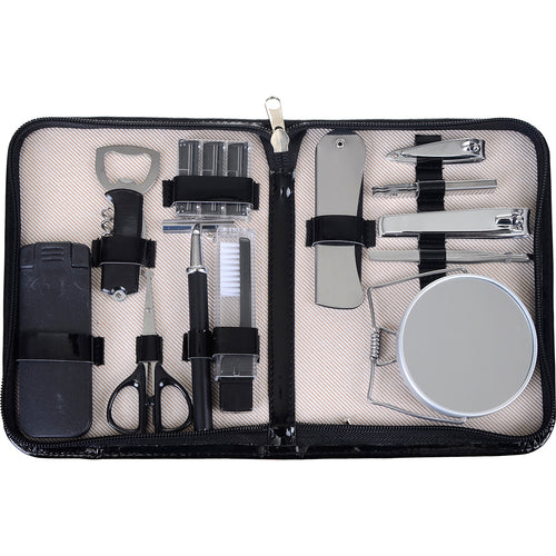Mens 10 Piece Grooming Kit - Gifts for Men With Cancer