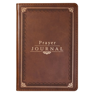 Classic LuxLeather Prayer Journal in Deep Tan - Gifts for Cancer Patients