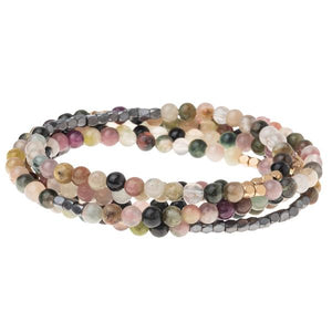 Tourmaline Wrap Bracelet or Necklace - Stone of Healing