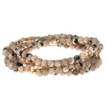 Load image into Gallery viewer, Rhodonite Wrap Bracelet or Necklace- Stone of Healing