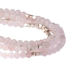 Load image into Gallery viewer, Rose Quartz Wrap Bracelet or Necklace - Stone of the Heart