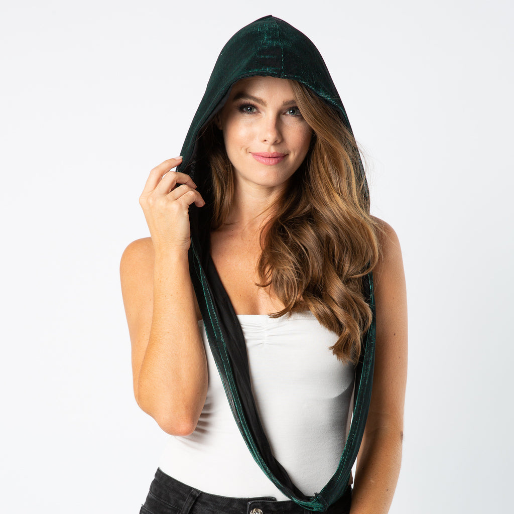 Festival Clothing Green Hood