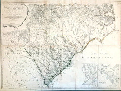 An Accurate Map of North and South Carolina . . .  by Henry Mouzon and others