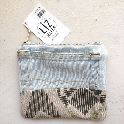 By Liz Miller | Jeans, Black Diamond Lines & White Zipper | *$25