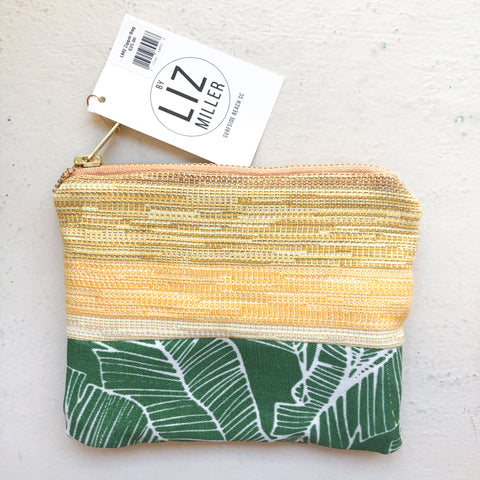 By Liz Miller | Yellow Texture & Green Leaf | *$25