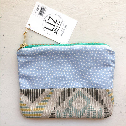 By Liz Miller | Blue with Polka-Dots & Black Diamond Lines  | *$25