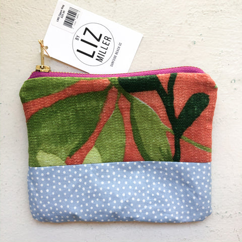 By Liz Miller | Big Green Leaves & Blue with Polka-Dots  | *$25