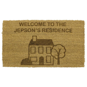 Personalised House Doormat Large