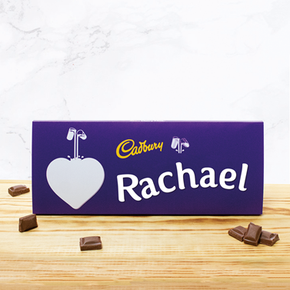Personalised Cadburys Chocolate Bar With Heart