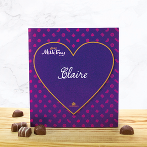 Personalised Cadbury Milk Tray With Heart
