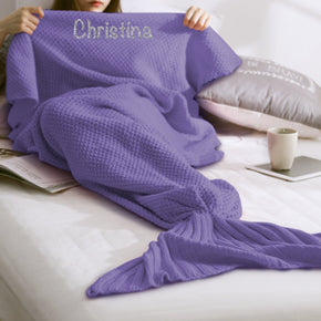 Purple Mermaid Blanket