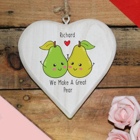 We Make A Great Pear Hanging Heart