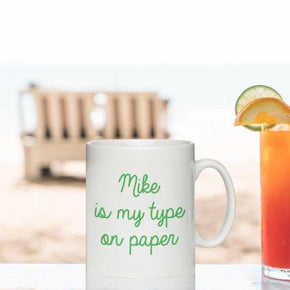 My Type on paper Sublimation Mug