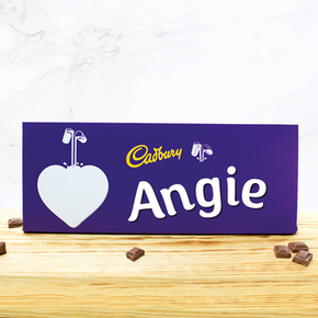 Personalised Large Cadburys Chocolate Bar With Heart