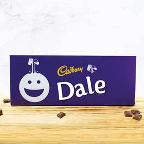 Personalised Large Cadburys Chocolate Bar With Face