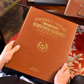 Personalised A3 Leatherette Football Newspaper Book